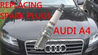 getlinkyoutube.com-Audi 2.0 Turbo Spark Plugs How To - B8 2009 - Present