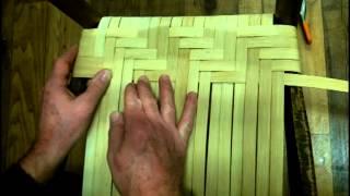 getlinkyoutube.com-How to Weave a Splint Seat in Herringbone Pattern Using Flat Reed