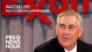WATCH LIVE: Rex Tillerson confirmation hearing