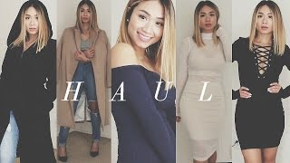 getlinkyoutube.com-Fall/Winter Haul 2015: Lulus, FashionNova, Dynamite, H&M, Romwe | HAUSOFCOLOR