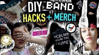 getlinkyoutube.com-DIY Concert/Music LIFE HACKS + Band MERCH