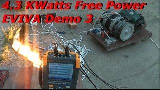 Selfrunning Free Energy QMOGEN - EVIVA Demo 3 - 4.3 KWatts Free Power