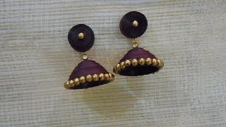 getlinkyoutube.com-How to Quickly Make Quilling Jhumka/Earrings