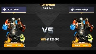 getlinkyoutube.com-Real Steel Champions | FINAL TOURNAMENT | Metro VS Metro NEW ROBOTS GAME (Живая Сталь)