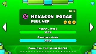 getlinkyoutube.com-Geometry Dash - Hexagon Force (FULL VER) All Coin / ♬ Partition