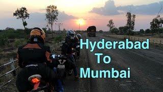 Hyderabad to Mumbai | Mumbiker nikhil