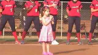 getlinkyoutube.com-Kaitlyn Maher (4yo) sings National Anthem at Washington Glory game 7/26/08