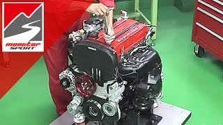 三菱 ランサーエボリューション4G63エンジン モンスタースポーツ コンプリートエンジン【MX350】作業解説 [MONSTER SPORT MITSUBISHI EVO TUNED Eg]