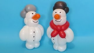 getlinkyoutube.com-Снеговик из шарика / One balloon Snowman (Subtitles)