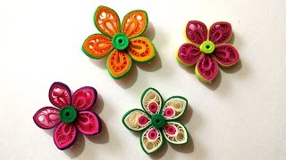 getlinkyoutube.com-How To Make Beautiful Flower Using Paper Art Quilling