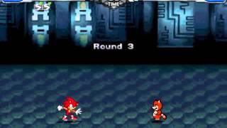 getlinkyoutube.com-MUGEN: Fire Sonic (Me) Vs. Tanooki Mario