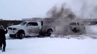 getlinkyoutube.com-FORD VS. DODGE TUG OF WAR (MUST WATCH) (DieselSellerz)