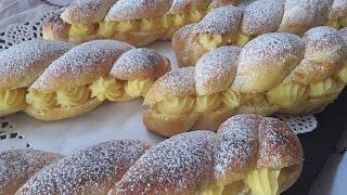 بريوش رائع بالكريم باتيسيير  Brioche à la crème pâtissière