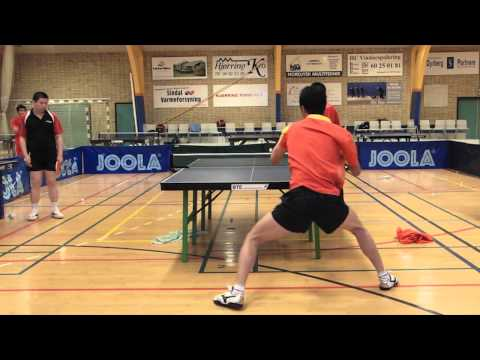Table Tennis - Chinese Footwork Part 6 - Forehand from the middle
