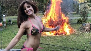 SHE LAUGHS AS THEY BURN! Burning the Pampas Bastards!