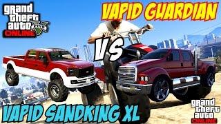 getlinkyoutube.com-GTA 5 PS4 - Vapid Guardian Vs Vapid Sandking XL | #115 (GTA V)