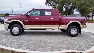 getlinkyoutube.com-All new 2017 Ram 3500 Laramie Longhorn Mega Cab 4X4 Delmonico Red TDY Sales Granbury DFW Dealer