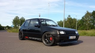 getlinkyoutube.com-Peugeot 205 GTI 2.0 T16 mit semi R888 no-lift shift   NDL-Motorsport