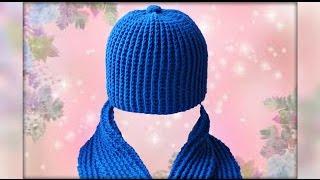 getlinkyoutube.com-Шапка крючком для начинающих. Crochet hat.