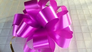 getlinkyoutube.com-How To Make A Puff Bow - A Tutorial On How To Make A Bow For Flower Bouquets