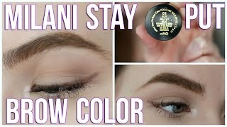 getlinkyoutube.com-Milani Stay Put Brow Color First Impressions | Drugstore Dipbrow Dupe