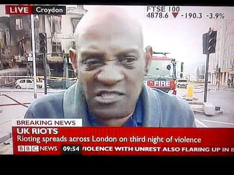 London Riots. (The BBC will never replay this. Send it out)
