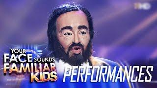 Your Face Sounds Familiar Kids Finale: Elha Nympha as Luciano Pavarotti - La Donna E Mobile