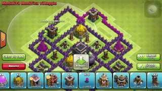 getlinkyoutube.com-Clash of Clans | municipio livello 7 base ibrida