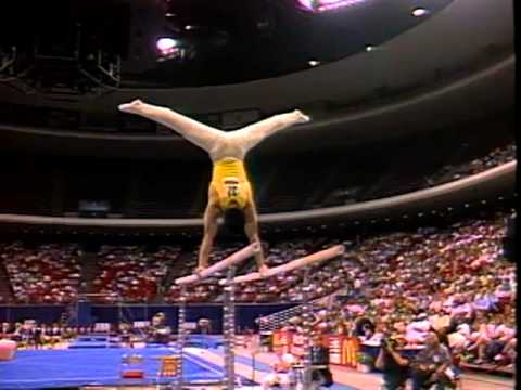 Chow Liang - Parallel Bars - 1991 McDonald's American Cup