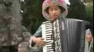 美女手风琴独奏-假如你是一朵花 Ntxhais Lauj: Kheev Lam Koj Yog Ib Res Paj
