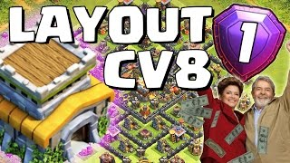 getlinkyoutube.com-LAYOUT TOP para CV8 (FARM/PUSH) - Clash of Clans