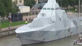 getlinkyoutube.com-Visby class corvette VISBY To withdraw into the river Aura