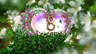 getlinkyoutube.com-Футаж - Футажи для видеомонтажа - 8 марта flowers