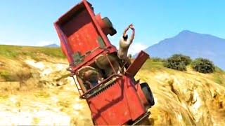 getlinkyoutube.com-GTA V Unbelievable Crashes/Falls - Episode 06