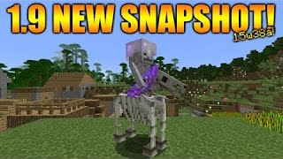 getlinkyoutube.com-#Minecraft 1.9 2015 Combat Update SKELETON HORSEMEN!, Smarter skeletons & more