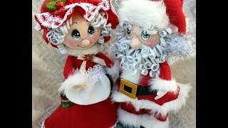 getlinkyoutube.com-Santa and Mrs.Claus Fofucha Dolls eva foam dolls