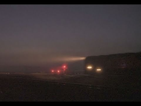 V/line train in fog - Country passenger train - PoathTV  Level Crossing / Grade Crossing Videos
