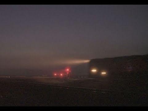 V/line train in fog - Country passenger train - PoathTV  Level Crossing / Grade Crossing Videos