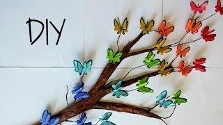 DIY Tree Branch + 3D Butterflies ♥ // Room Decor
