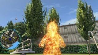 getlinkyoutube.com-LEGO Marvel Super Heroes - Human Torch Free Roam Gameplay