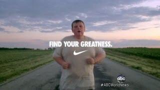 getlinkyoutube.com-Nike Olympic Ad: Mocking or Lauding 200-Pound Boy?