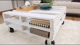 getlinkyoutube.com-How to Create a Pallet Coffee Table in One Afternoon | Eye on Design