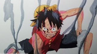 getlinkyoutube.com-Drawing Monkey D. Luffy - Gear Second
