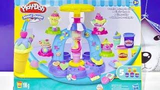getlinkyoutube.com-Peppa Pig Español SURPRISE EGGS - Play Doh Ice Cream Shop Play dough Scoops