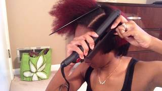 getlinkyoutube.com-Natural Hair: Flat Iron Routine