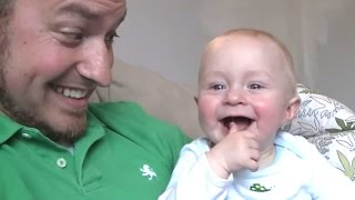 getlinkyoutube.com-Babies Laughing Hysterically At Mom And Dad Compilation || NEW HD