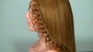 getlinkyoutube.com-Плетение ажурной косички на длинные волосы. Braided hairstyle