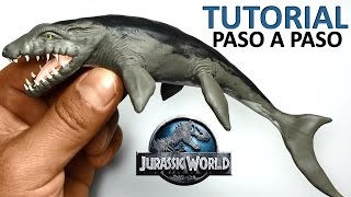 getlinkyoutube.com-★ jurassic world - Como hacer un Mosasaurus de plastilina ★ Tutorial clay