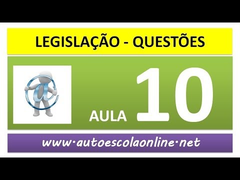 #10 Resolução de Questões - Prova Simulada do DETRAN - Curso de Legislação de Trânsito