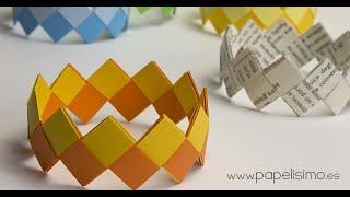 getlinkyoutube.com-Cómo hacer pulseras de papel